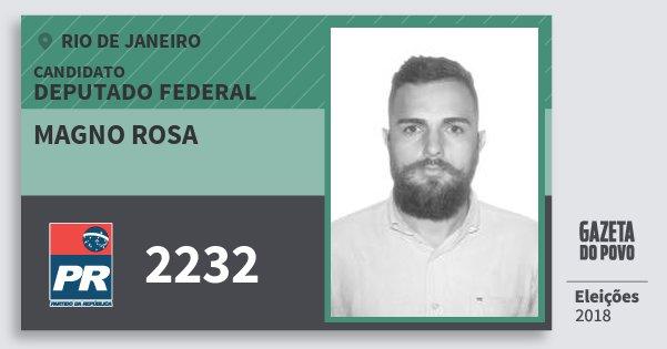 Santinho Magno Rosa 2232 (PR) Deputado Federal | Rio de Janeiro | Eleições 2018