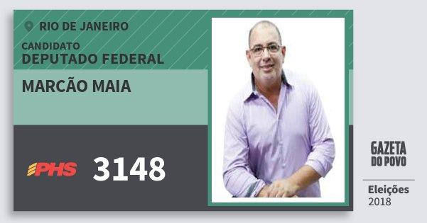 Santinho Marcão Maia 3148 (PHS) Deputado Federal | Rio de Janeiro | Eleições 2018