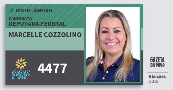 Santinho Marcelle Cozzolino 4477 (PRP) Deputada Federal | Rio de Janeiro | Eleições 2018