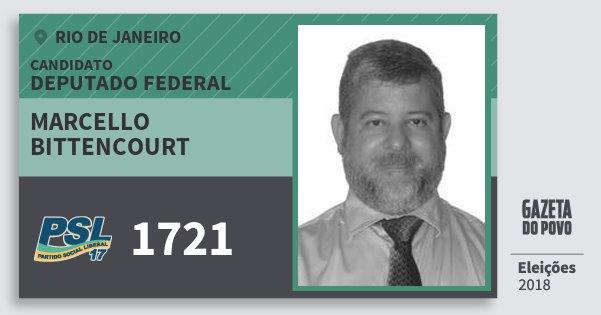 Santinho Marcello Bittencourt 1721 (PSL) Deputado Federal | Rio de Janeiro | Eleições 2018