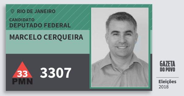 Santinho Marcelo Cerqueira 3307 (PMN) Deputado Federal | Rio de Janeiro | Eleições 2018