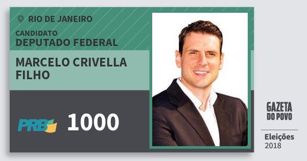 Santinho Marcelo Crivella Filho 1000 (PRB) Deputado Federal | Rio de Janeiro | Eleições 2018