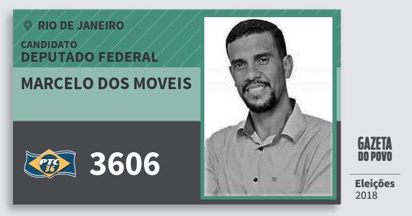 Santinho Marcelo dos Moveis 3606 (PTC) Deputado Federal | Rio de Janeiro | Eleições 2018