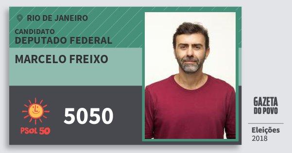 Santinho Marcelo Freixo 5050 (PSOL) Deputado Federal | Rio de Janeiro | Eleições 2018