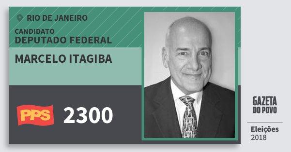 Santinho Marcelo Itagiba 2300 (PPS) Deputado Federal | Rio de Janeiro | Eleições 2018