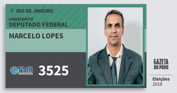Santinho Marcelo Lopes 3525 (PMB) Deputado Federal | Rio de Janeiro | Eleições 2018