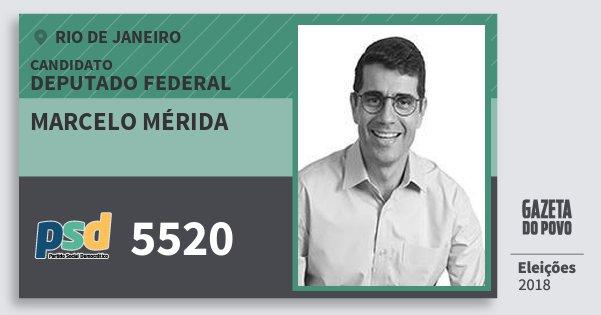 Santinho Marcelo Mérida 5520 (PSD) Deputado Federal | Rio de Janeiro | Eleições 2018