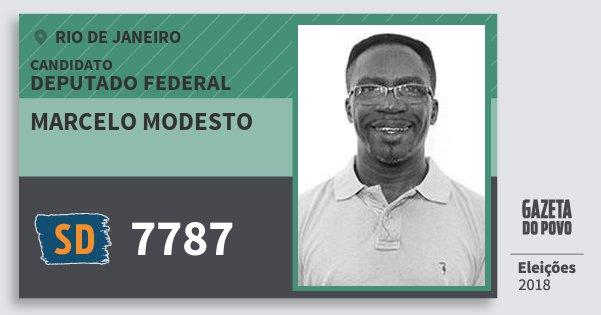 Santinho Marcelo Modesto 7787 (SOLIDARIEDADE) Deputado Federal | Rio de Janeiro | Eleições 2018