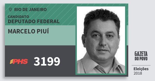 Santinho Marcelo Piuí 3199 (PHS) Deputado Federal | Rio de Janeiro | Eleições 2018