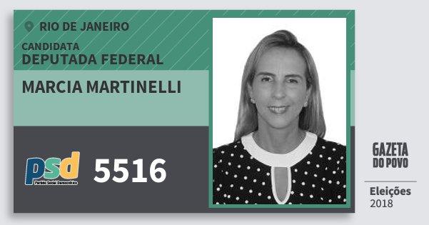 Santinho Marcia Martinelli 5516 (PSD) Deputada Federal | Rio de Janeiro | Eleições 2018