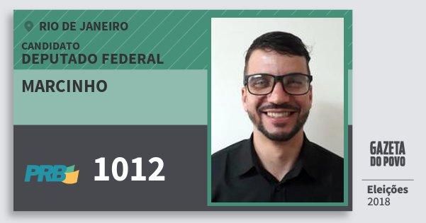 Santinho Marcinho 1012 (PRB) Deputado Federal | Rio de Janeiro | Eleições 2018