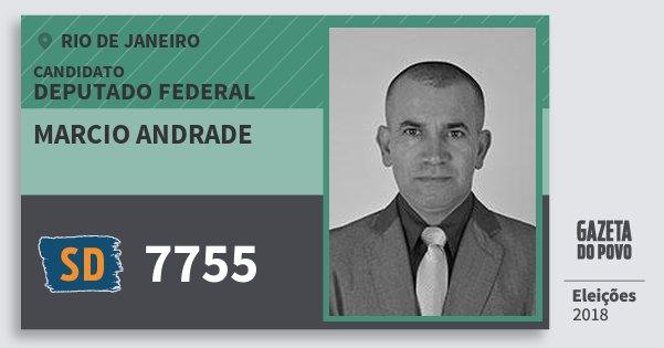 Santinho Marcio Andrade 7755 (SOLIDARIEDADE) Deputado Federal | Rio de Janeiro | Eleições 2018