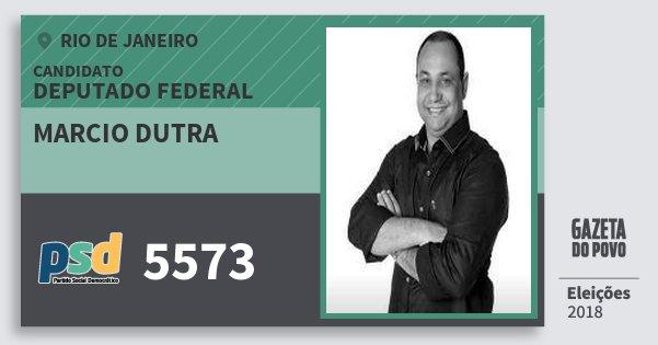 Santinho Marcio Dutra 5573 (PSD) Deputado Federal | Rio de Janeiro | Eleições 2018
