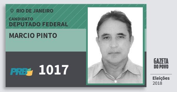 Santinho Marcio Pinto 1017 (PRB) Deputado Federal | Rio de Janeiro | Eleições 2018