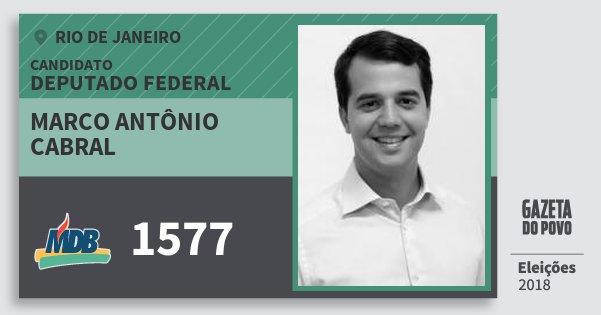 Santinho Marco Antônio Cabral 1577 (MDB) Deputado Federal | Rio de Janeiro | Eleições 2018