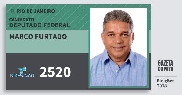Santinho Marco Furtado 2520 (DEM) Deputado Federal | Rio de Janeiro | Eleições 2018