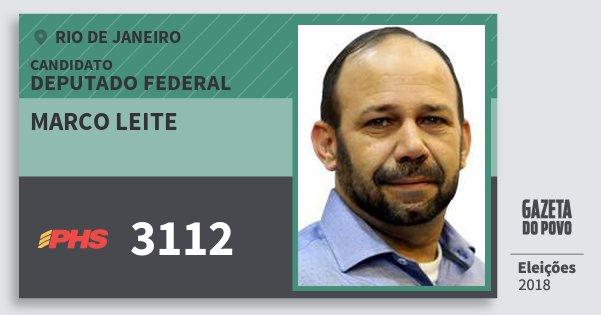 Santinho Marco Leite 3112 (PHS) Deputado Federal | Rio de Janeiro | Eleições 2018