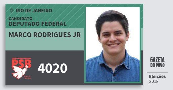 Santinho Marco Rodrigues Jr 4020 (PSB) Deputado Federal | Rio de Janeiro | Eleições 2018