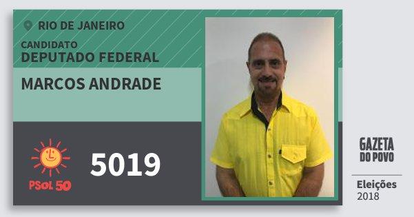 Santinho Marcos Andrade 5019 (PSOL) Deputado Federal   Rio de Janeiro   Eleições 2018