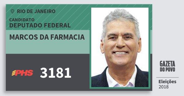 Santinho Marcos da Farmacia 3181 (PHS) Deputado Federal | Rio de Janeiro | Eleições 2018