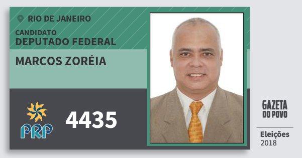 Santinho Marcos Zoréia 4435 (PRP) Deputado Federal | Rio de Janeiro | Eleições 2018