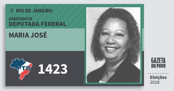 Santinho Maria José 1423 (PTB) Deputada Federal | Rio de Janeiro | Eleições 2018