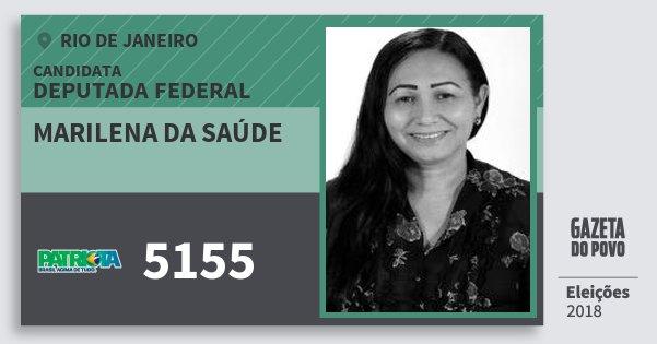 Santinho Marilena da Saúde 5155 (PATRI) Deputada Federal | Rio de Janeiro | Eleições 2018