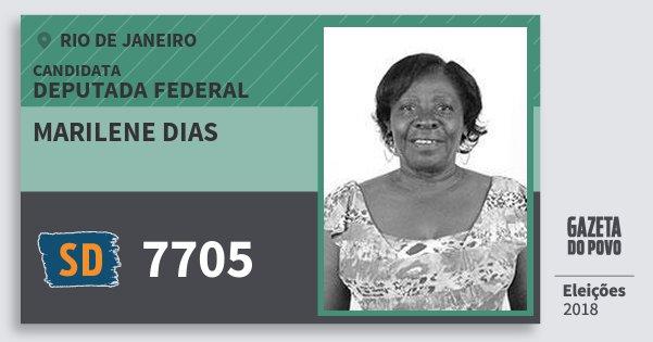 Santinho Marilene Dias 7705 (SOLIDARIEDADE) Deputada Federal | Rio de Janeiro | Eleições 2018
