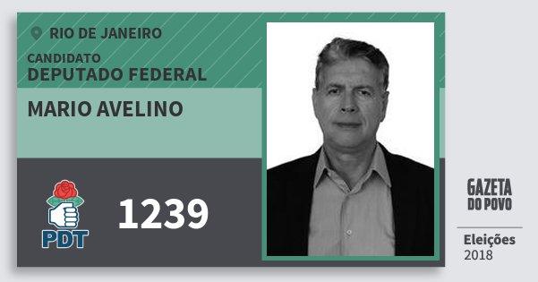 Santinho Mario Avelino 1239 (PDT) Deputado Federal | Rio de Janeiro | Eleições 2018
