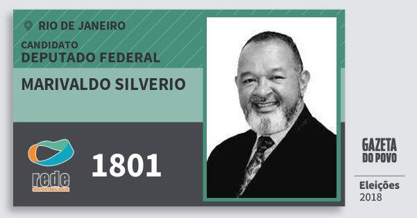 Santinho Marivaldo Silverio 1801 (REDE) Deputado Federal | Rio de Janeiro | Eleições 2018