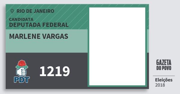 Santinho Marlene Vargas 1219 (PDT) Deputada Federal | Rio de Janeiro | Eleições 2018