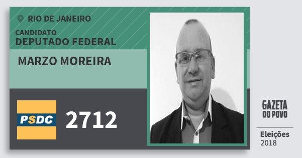 Santinho Marzo Moreira 2712 (DC) Deputado Federal   Rio de Janeiro   Eleições 2018