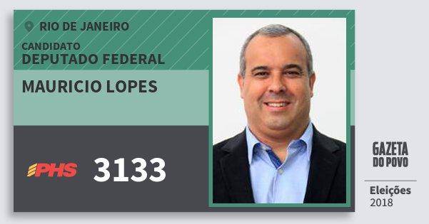 Santinho Mauricio Lopes 3133 (PHS) Deputado Federal | Rio de Janeiro | Eleições 2018