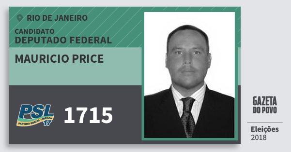 Santinho Mauricio Price 1715 (PSL) Deputado Federal | Rio de Janeiro | Eleições 2018