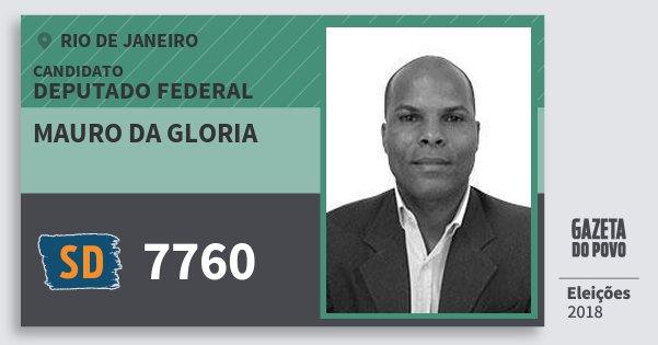 Santinho Mauro da Gloria 7760 (SOLIDARIEDADE) Deputado Federal | Rio de Janeiro | Eleições 2018