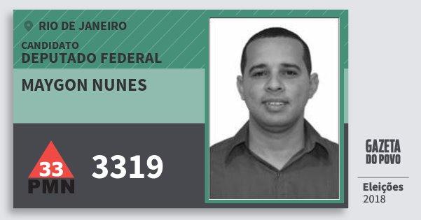 Santinho Maygon Nunes 3319 (PMN) Deputado Federal | Rio de Janeiro | Eleições 2018
