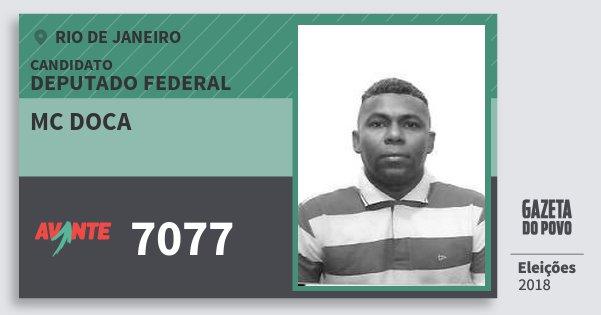 Santinho Mc Doca 7077 (AVANTE) Deputado Federal | Rio de Janeiro | Eleições 2018