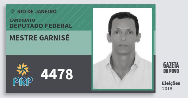 Santinho Mestre Garnisé 4478 (PRP) Deputado Federal | Rio de Janeiro | Eleições 2018