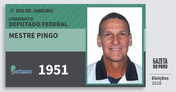 Santinho Mestre Pingo 1951 (PODE) Deputado Federal | Rio de Janeiro | Eleições 2018