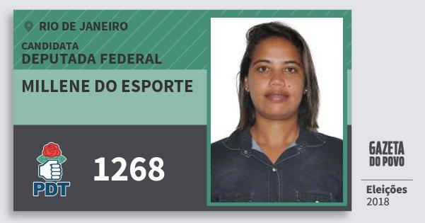 Santinho Millene do Esporte 1268 (PDT) Deputada Federal | Rio de Janeiro | Eleições 2018