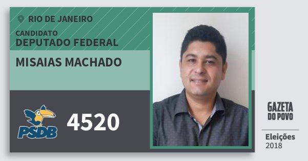 Santinho Misaias Machado 4520 (PSDB) Deputado Federal | Rio de Janeiro | Eleições 2018