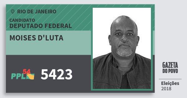 Santinho Moises d'luta 5423 (PPL) Deputado Federal | Rio de Janeiro | Eleições 2018
