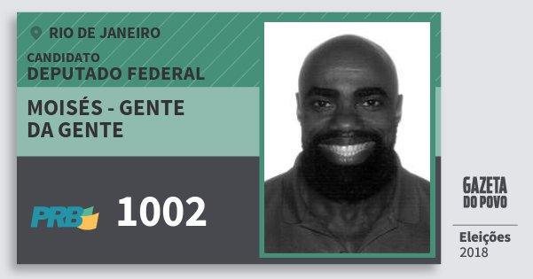 Santinho Moisés - Gente da Gente 1002 (PRB) Deputado Federal | Rio de Janeiro | Eleições 2018