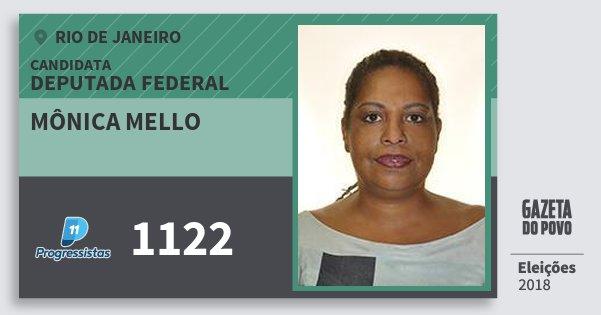 Santinho Mônica Mello 1122 (PP) Deputada Federal | Rio de Janeiro | Eleições 2018