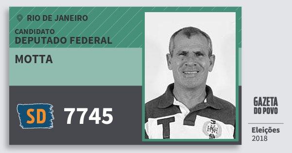 Santinho Motta 7745 (SOLIDARIEDADE) Deputado Federal | Rio de Janeiro | Eleições 2018