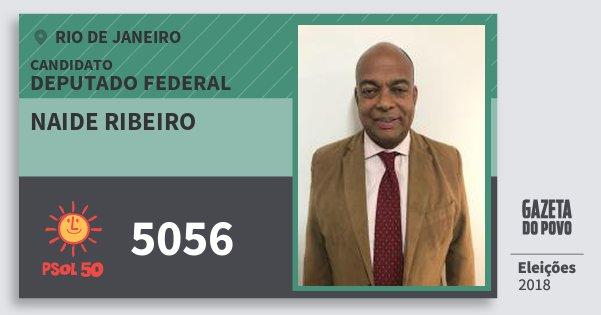 Santinho Naide Ribeiro 5056 (PSOL) Deputado Federal | Rio de Janeiro | Eleições 2018