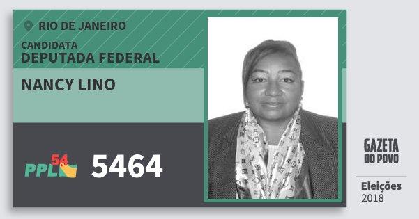 Santinho Nancy Lino 5464 (PPL) Deputada Federal | Rio de Janeiro | Eleições 2018