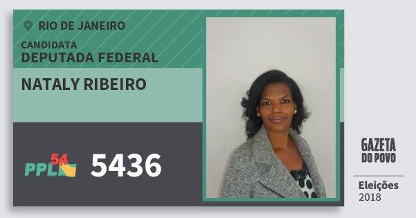 Santinho Nataly Ribeiro 5436 (PPL) Deputada Federal | Rio de Janeiro | Eleições 2018