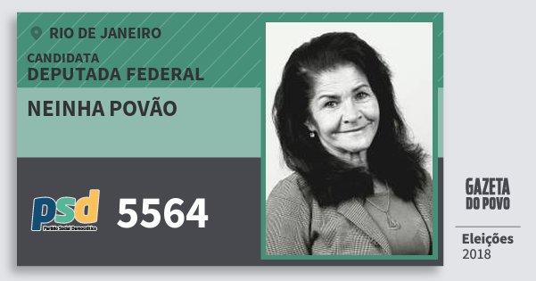 Santinho Neinha Povão 5564 (PSD) Deputada Federal | Rio de Janeiro | Eleições 2018