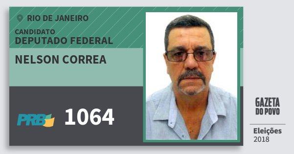 Santinho Nelson Correa 1064 (PRB) Deputado Federal | Rio de Janeiro | Eleições 2018